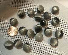 """Set of 19 Grey White Black 1/2"""" Ball Marble Buttons With Concealed Fixings"""