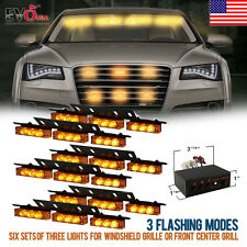 54 LED Car Truck Strobe Emergency Warning Light for Deck Dash Grill Yellow Amber