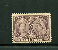 Canada #57 (CA463) Jubilee issue 10c Brown Violet, M, LH, VF, CV$175.00