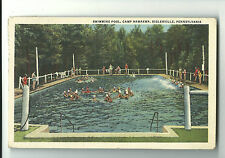 1944 Postcard Swimming Pool Camp Nawakwa Biglerville PA