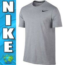 Nike Men'S Size Xl Breathe Short Sleeve Training Top 832835 043 Grey