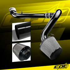 For 91-99 Saturn S-Series Mt 1.9L 4cyl Black Cold Air Intake + Stainless Filter (Fits: Saturn)