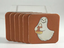 x6 Longaberger Cork Halloween Coasters Ghost Pumpkin Candy Corn