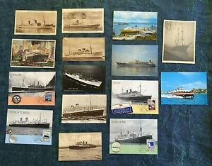 Shipping Theme Postcard Lot Mixed Vintage And Modern