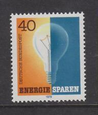 Alemania Occidental estampillada sin montar o nunca montada sello Deutsche Bundespost 1979 ahorrar energía Bombilla SG 1911