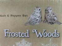 Cracker Barrel Frosted Woods Salt and Pepper Shakers - NEW