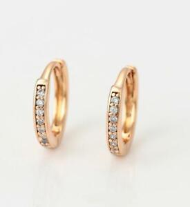 "9K 9ct Yellow ""Gold Filled"" tiny 11mm Hoop Huggies sleeper Earrings, Young girls"