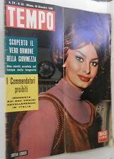 TEMPO 30 dicembre 1958 Sofia Loren Difesa di Ghiani Marilyn Monroe Chalgrin di