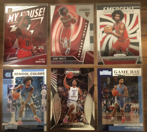 Lot X6 COBY WHITE 2019-20 RC Panini Prizm Draft Contenders