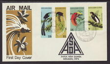 Papua New Guinean Birds Worldwide First Day Covers