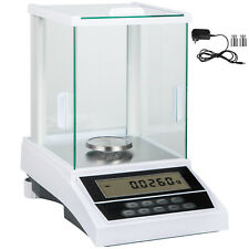 Labor Analysewaagen Feinwaage 200g x 0.1mg LCD Waage Digitalwaage Goldwaage