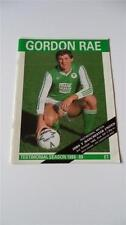 Hibernian Home Teams Testimonial Football Programmes