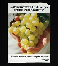 FIAT TRATTORI manifesto poster Uva Bianca Grapes Motori Grand Prix B113