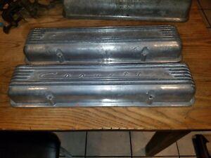 1956 1957 1958  chevy Corvette Original 7 fin Aluminium valve covers 3726086