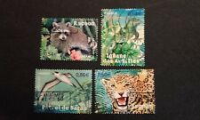 4 TIMBRES COLLECTION COMPLETE ESPECES PROTEGEES D'OUTRE-MER 2007 ANIMAUX FRANCE