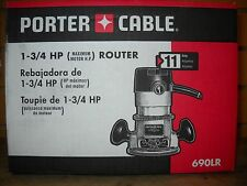 "Porter Cable 690LR 1 3/4 Peak HP Router 1/4"" & 1/2"" collets New Electric Tool"