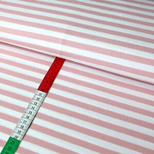 Jersey Stoff mit 1cm breiten Streifen - Ringeljersey ROSE auf weiß