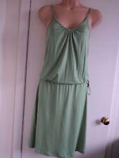 MATALAN Papaya Vestido Talla 8-elástico en la cintura, ATA en lado-Nuevo con etiquetas