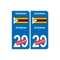 Zimbabwe Zimbabwe sticker numéro département au choix autocollant plaque immatri