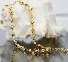 Damenkette Kugelkette 45 - 50 cm  Dubai 750 Gold /18 Karat  vergoldet 1308