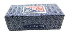 TALLY HO #9 Playing Cards 12 Decks Fan Back Original Design 6 Red & 6 Blue Deck