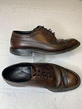 Vintage Copeg by Scholl Custom Grade Wingtip 8.5 E Dress Shoes Wing Tip 1950's