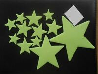 24pcs Wall Glow In The Dark Stars Stickers Baby Kids Nursery Bed Room Ceiling