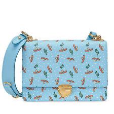 Prada Medium Saffiano Leather Crossbody Bag - Light Blue