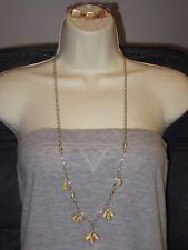Peach Cut Crystal Bracelet (Non Ls) Lia Sophia Lotus Necklace (Nwt) & *Bonus