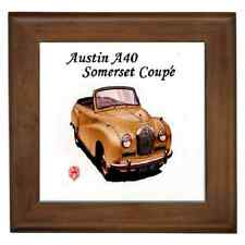 AUSTIN A40 SOMERSET 2 DR COUPE CERAMIC FRAMED TILE-WALL DECO, SUPERB GIFT