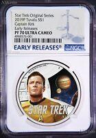 2019 Star Trek The Original Series Kirk Proof $1 1oz Silver COIN NGC PF 70 ER