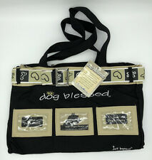 New Dog Blessed Large Tote Bag Just BePaws Black Holds 3 Photos  Paw Print