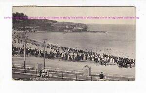 COOGEE  early view of beach looking north c.1900s postcard PU 1913 NSW AUSTRALIA