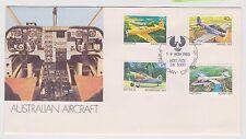 (ICF111) 1981 AU FDC 4set Australian aircraft (D)
