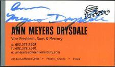Ann Meyers Drysdale Phoenix Wnba Signed Business Card Authentic Autograph Auto