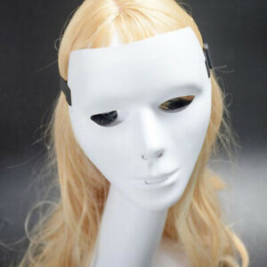 Full Face Plastic Plain Mask Ghost Dance Unisex Halloween Masquerade Party Ball