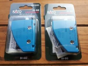 Pair Of Kato 24-840 N Gauge Unitrack Turnout Switches