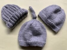 BA009 KNITTING PATTERN THREE HATS FOR PREMATURE BABIES IN SPORT YARN (3-5 LBS)