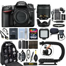 Nikon D7200 Digital SLR Camera with 18-55mm Lens + 64GB Pro Video Kit