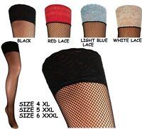 fishnet stockings plus size for garter belt 4XL 5XXL 6XXXL 7XXXXL many colors