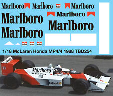 1/18 McLaren Honda MP4/4 F1 Ayrton Senna 1988 Decals TB Decal TBD254