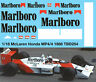 1/18 McLaren Honda MP4/4 F1 Ayrton Senna 1988 Decals TB Decal TBD254