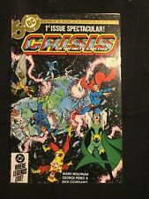 Crisis On Infinite Earths 1. 1st Blue Beetle, Wolfman, Perez. White Page Nm