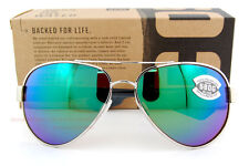 New Costa Del Mar Sunglasses SOUTH POINT Palladium Green Mirror 580G POLARIZED