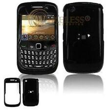Glossy Black Hard Case Cover BlackBerry Curve 8530