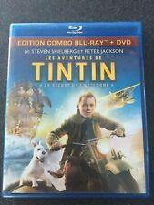"Blu-Ray + DVD "" Tintin Le secret de la Licorne  "" comme neuf"