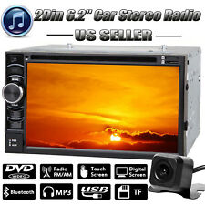HD Bluetooth Touch Screen Car Stereo Radio Double 2 DIN with Rearview Camera Hot