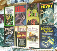 VINTAGE HORROR FICTION LOT TALES FROM THE CRYPT GRAVE READER NINE HORRORS & MORE