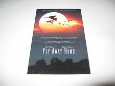 Rare 1996 Fly Away Home Premiere Screening Movie Ticket - Anna Paquin Geese