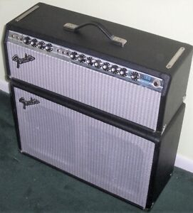Fender Silverfaced Twin Reverb Head with 2-12 Cabinet Free Shipping No Reserve